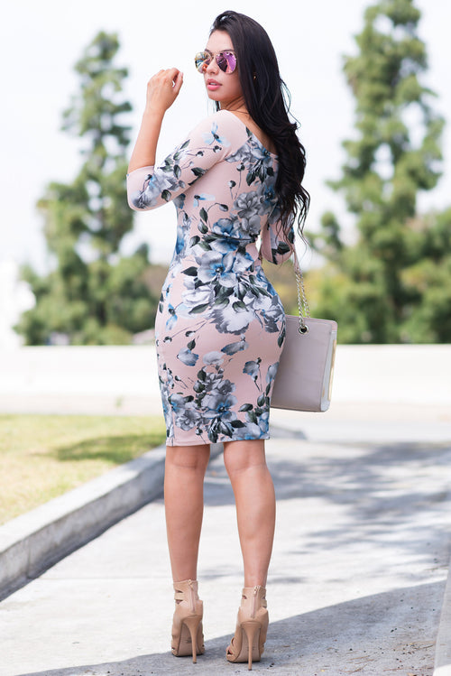 Seduced By Flowers Dress Light Pink