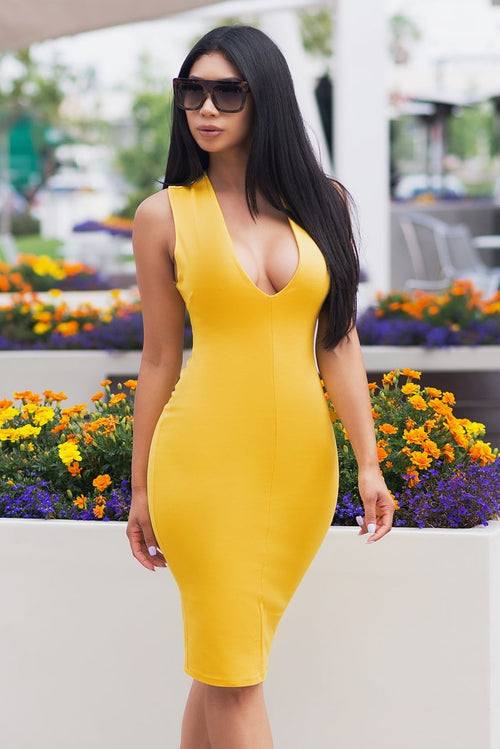 Love At First Sight Dress - Yellow