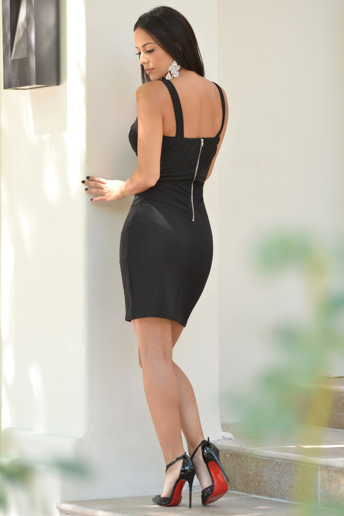 Mayte Black Mini Dress - Fashion Effect Store  - 5