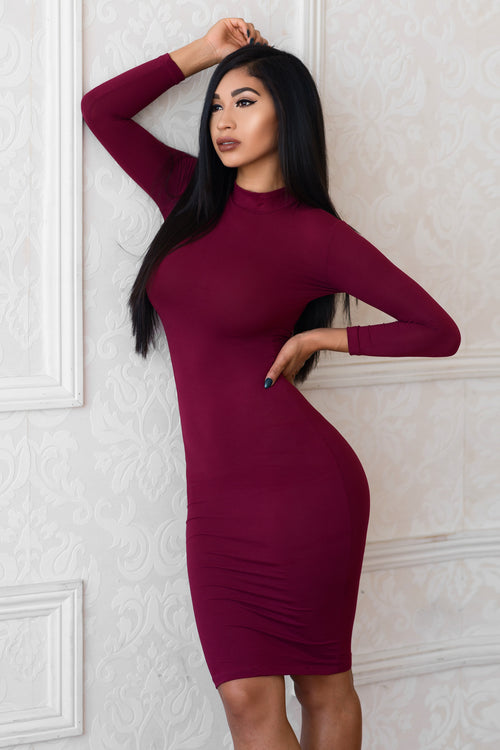 Gia Dress - Burgundy