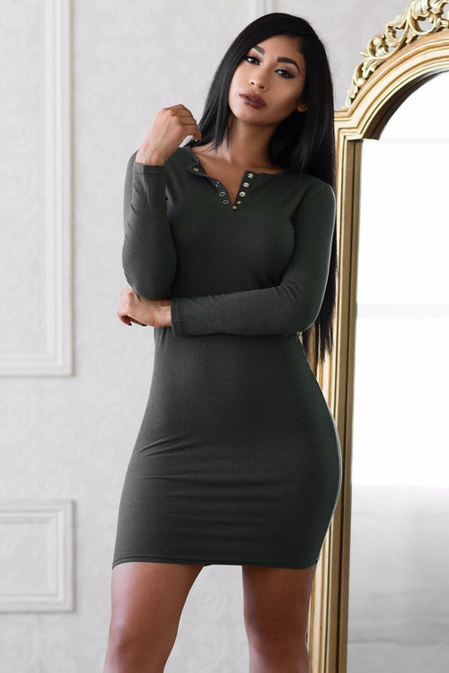 Fanny Dress - Dark Olive