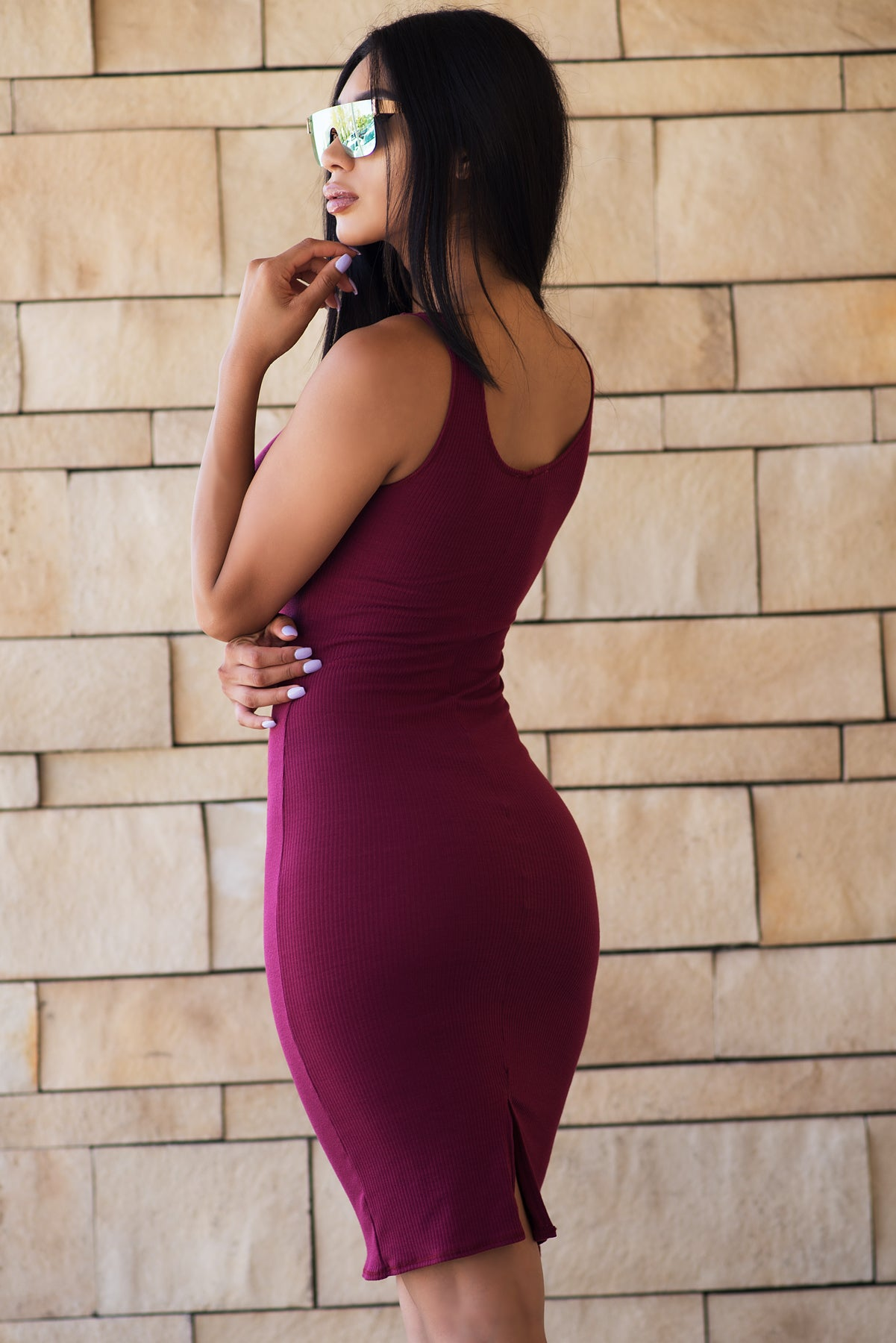 Valerie Dress - Burgundy