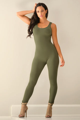 Kristy Olive Jumpsuit - Fashion Effect Store  - 2