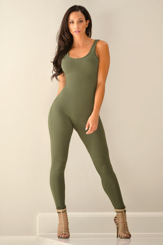 Kristy Olive Jumpsuit - Fashion Effect Store  - 1