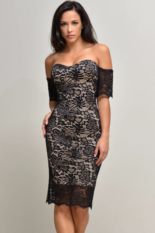 Jana Black Lace Dress - Fashion Effect Store  - 1