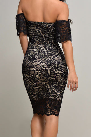 Jana Black Lace Dress - Fashion Effect Store  - 2