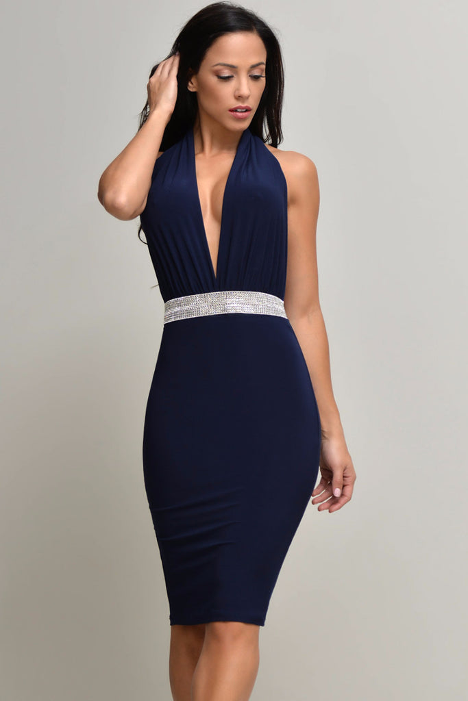 Jessa Navy Dress - Fashion Effect Store  - 4