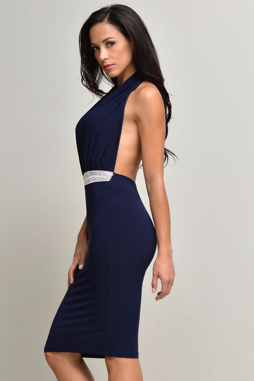 Jessa Navy Dress - Fashion Effect Store  - 5
