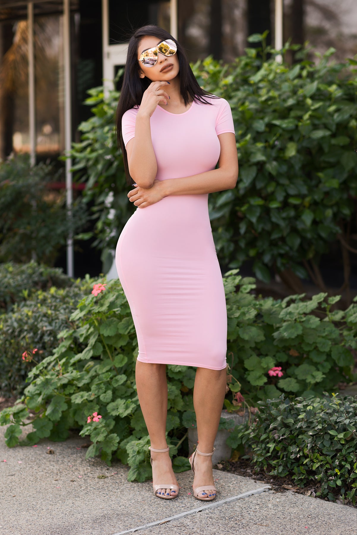 You Belong To Me Dress - Soft Pink