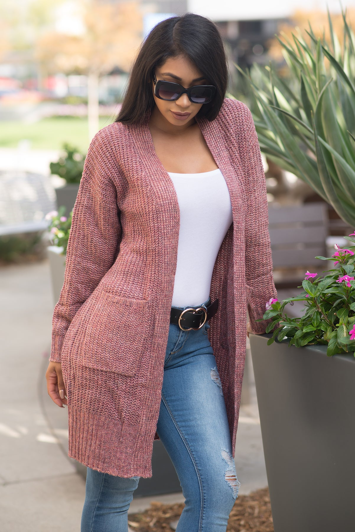 Sierra Cardigan Sweater - Berry Pink