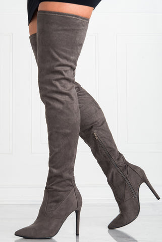 Runway Grey Boots - Fashion Effect Store