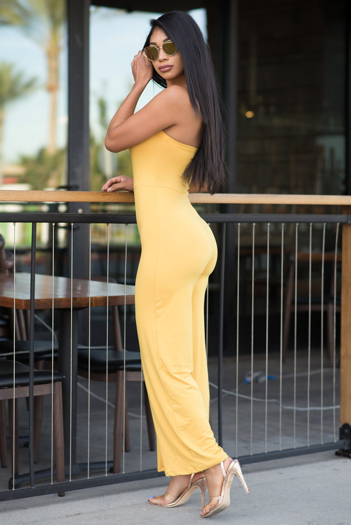 Belinda Jumpsuit - Mustard/Yellow
