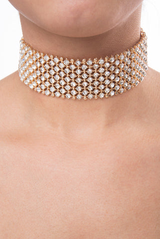 Daisy Gold Choker - Fashion Effect Store