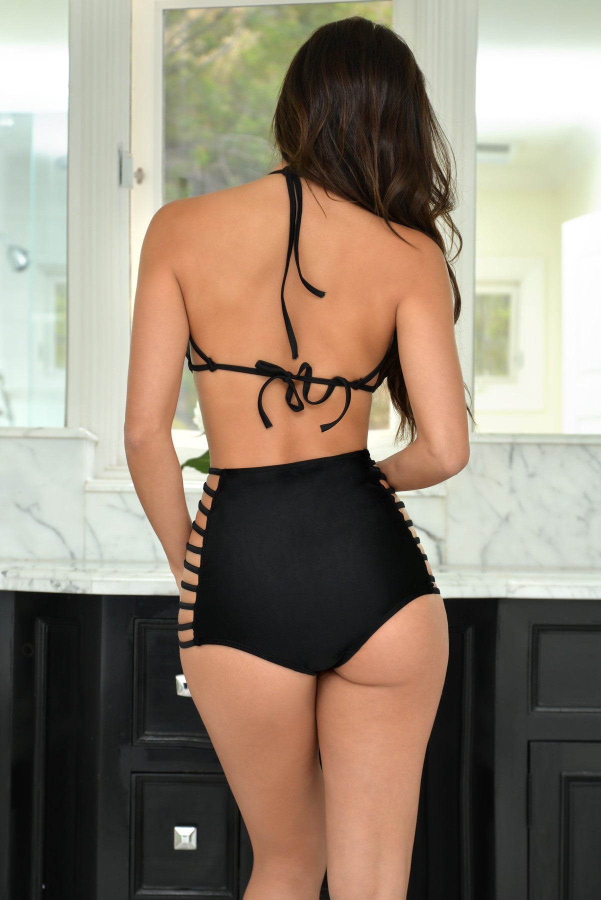 Kendall Black Two Piece Swimsuit - Fashion Effect Store  - 3
