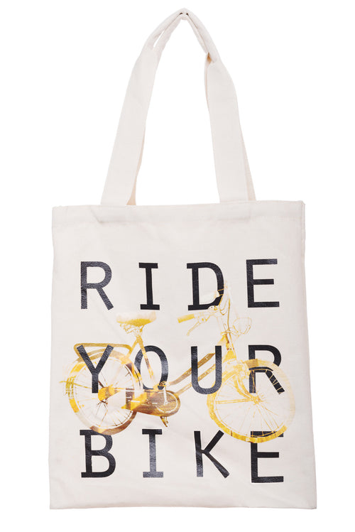 Ride Your Bike Canvas Tote