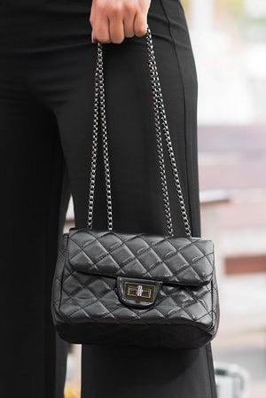 Annabel Chained Purse - Black