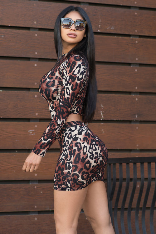Roxanne Set- Animal Print