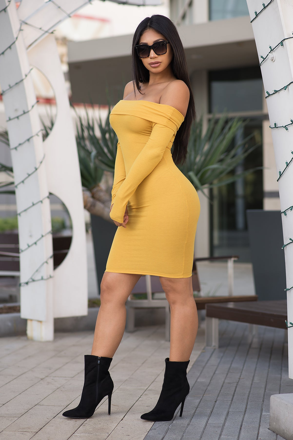 Cameryn Dress - Mustard