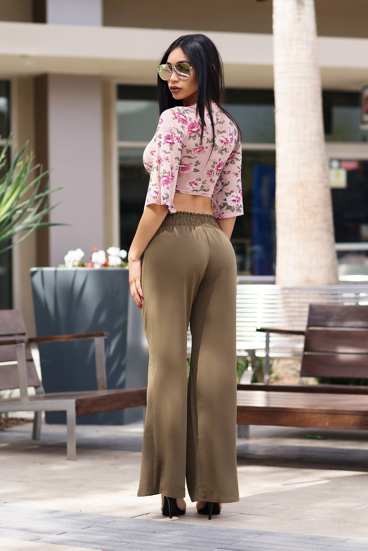 Vivian Pants -Earth Olive