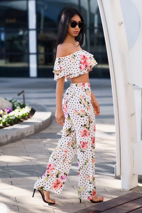 Claire two piece set - White