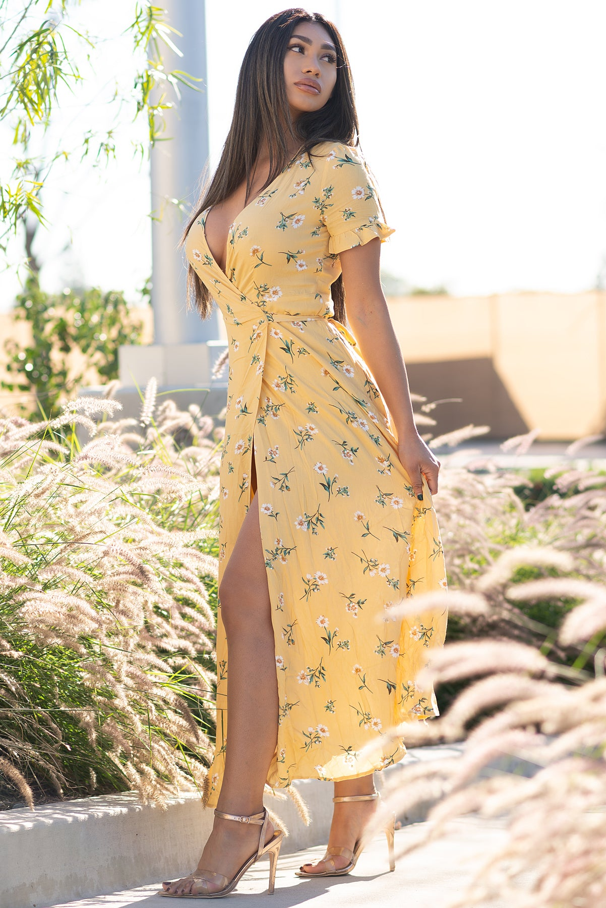 Julie Floral Maxi Dress - Yellow