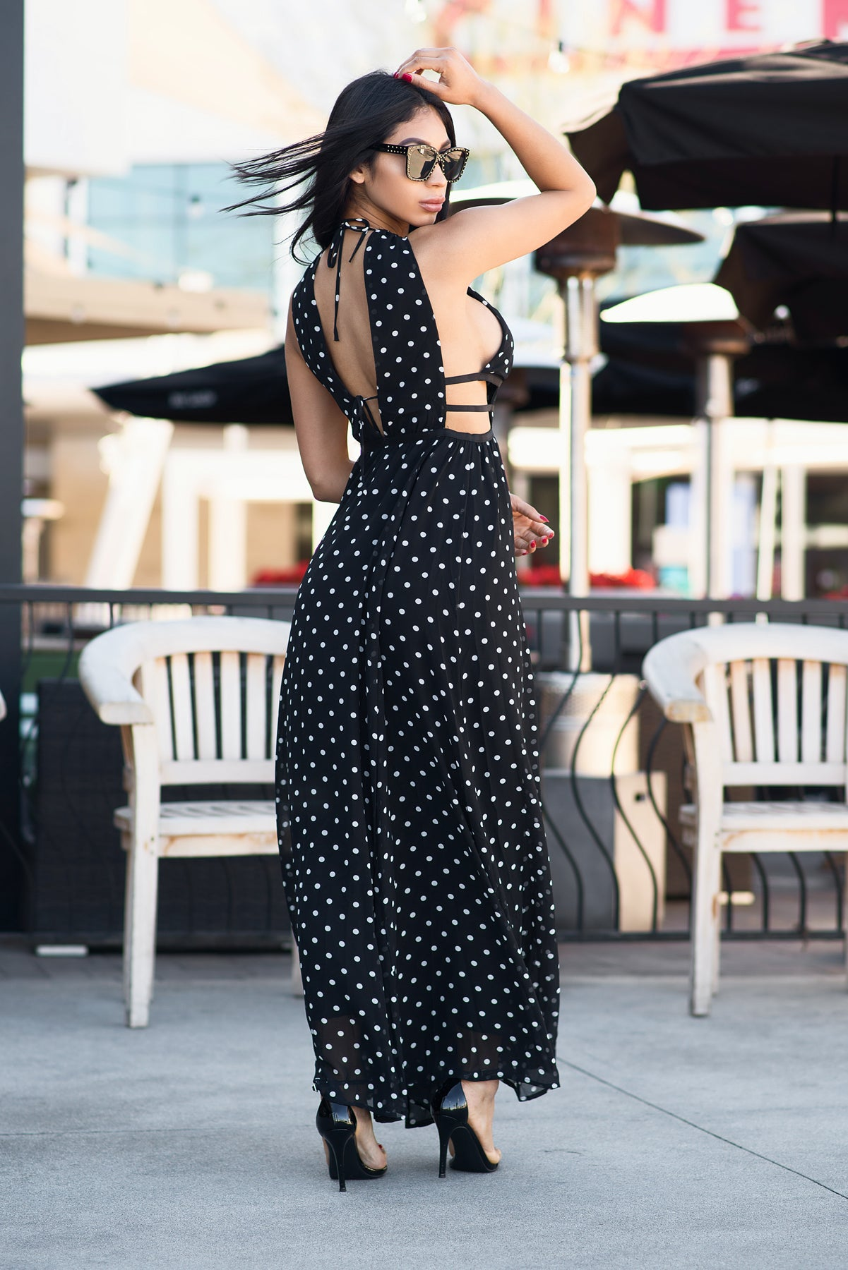 Layla Polka Dot Dress - Black & White