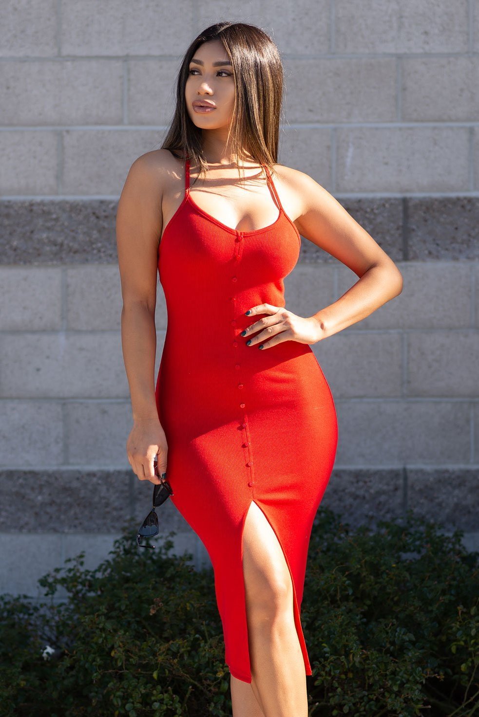 Makayla Dress - Red