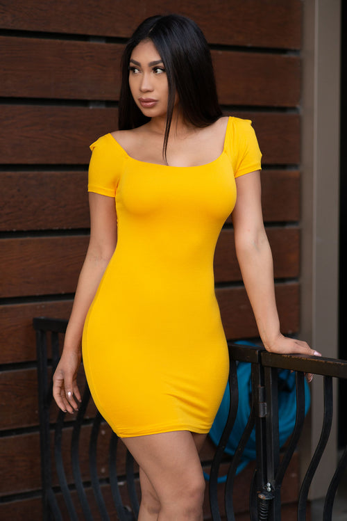 Deanna Mini Dress - Yellow