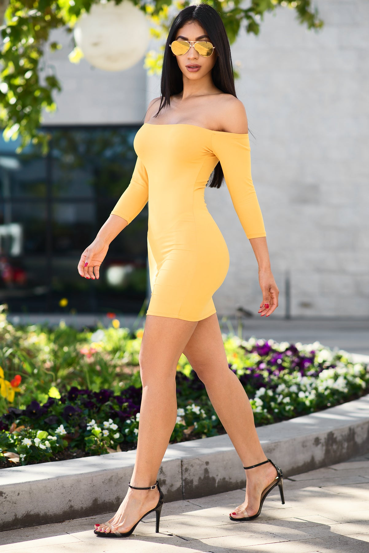 Amaya Dress - Yellow