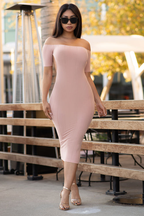 Georgia Midi Dress - Blush