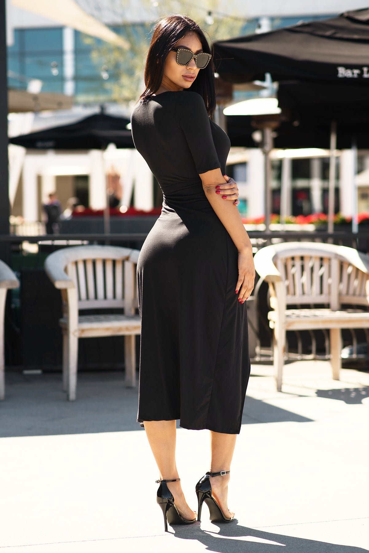 Lizbeth Wrap Dress - Black