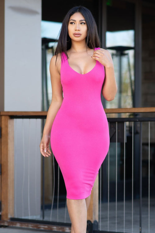 Emma Dress - Hot Pink