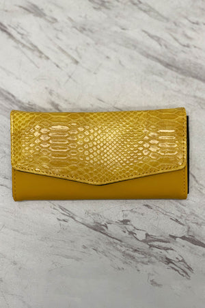 I'm All Yours Crocodile Print Wallet Yellow
