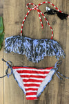 American Fringe Two Piece Swimsuit