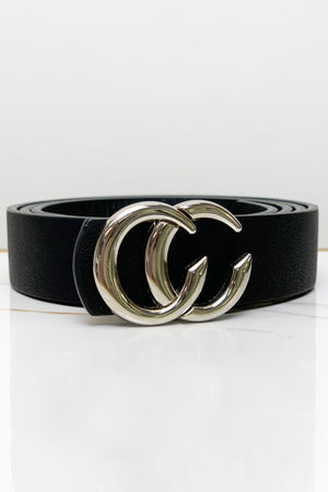 Stuck on You Waist Belt- Black/Silver