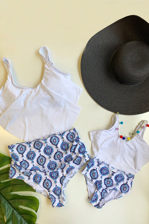 Mommy And Me Matching Set Floral Set Mia Blue