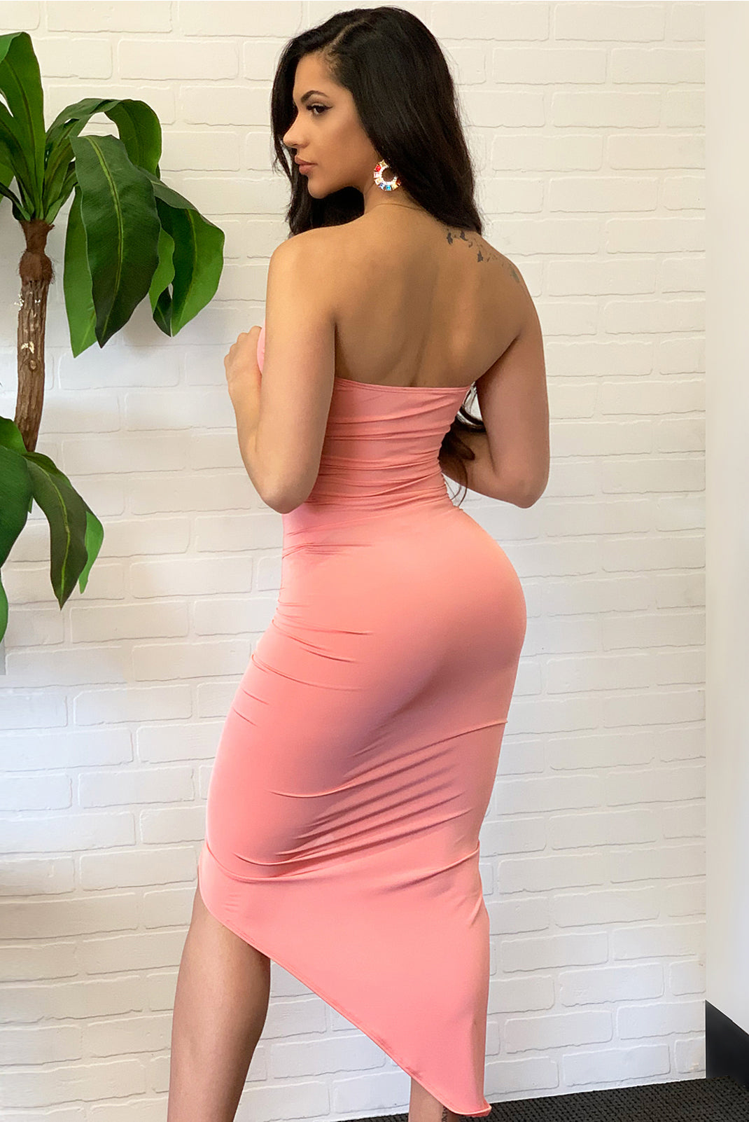 Andrea Dress - Peach