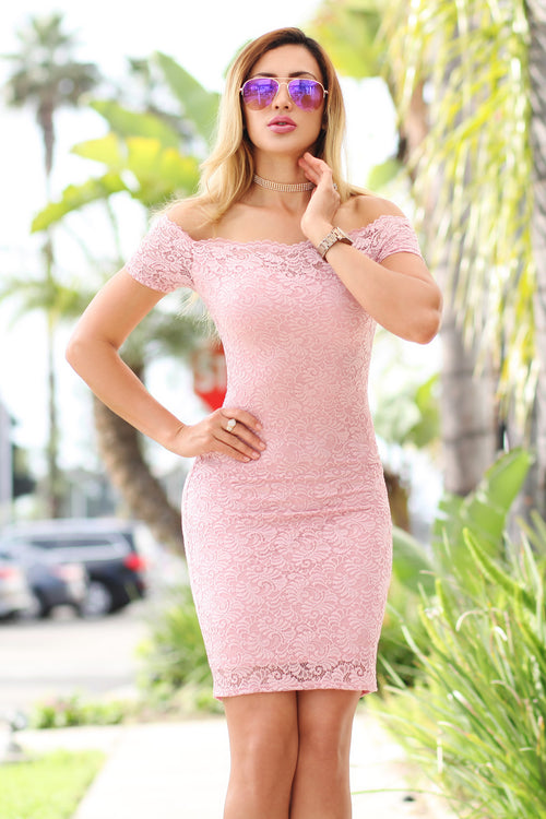 Lace Fantasy Pink Dress