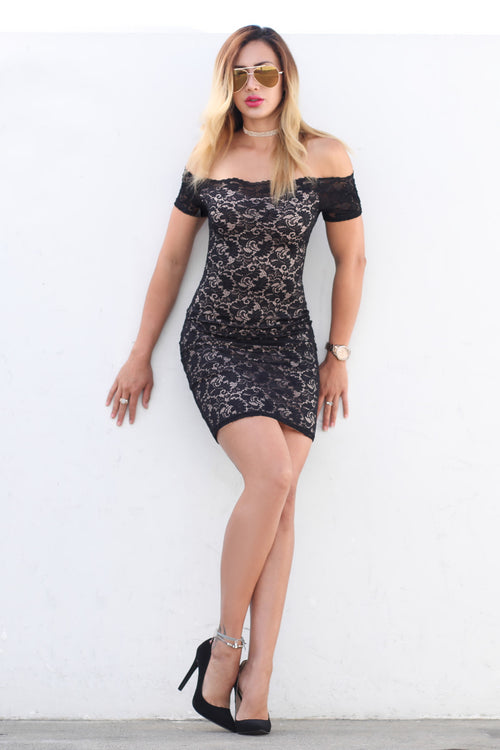 Lace Fantasy Black Dress