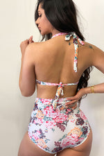 Aruba Floral Two Piece Swimsuit White