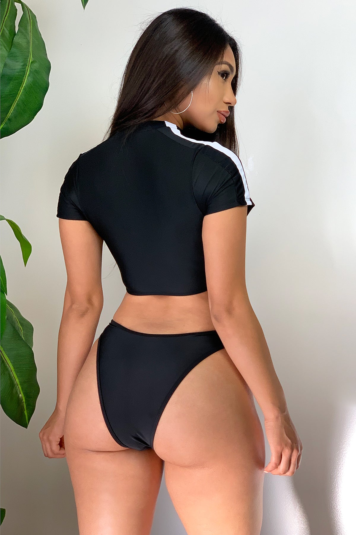Miami Beach two piece swimsuit -Black