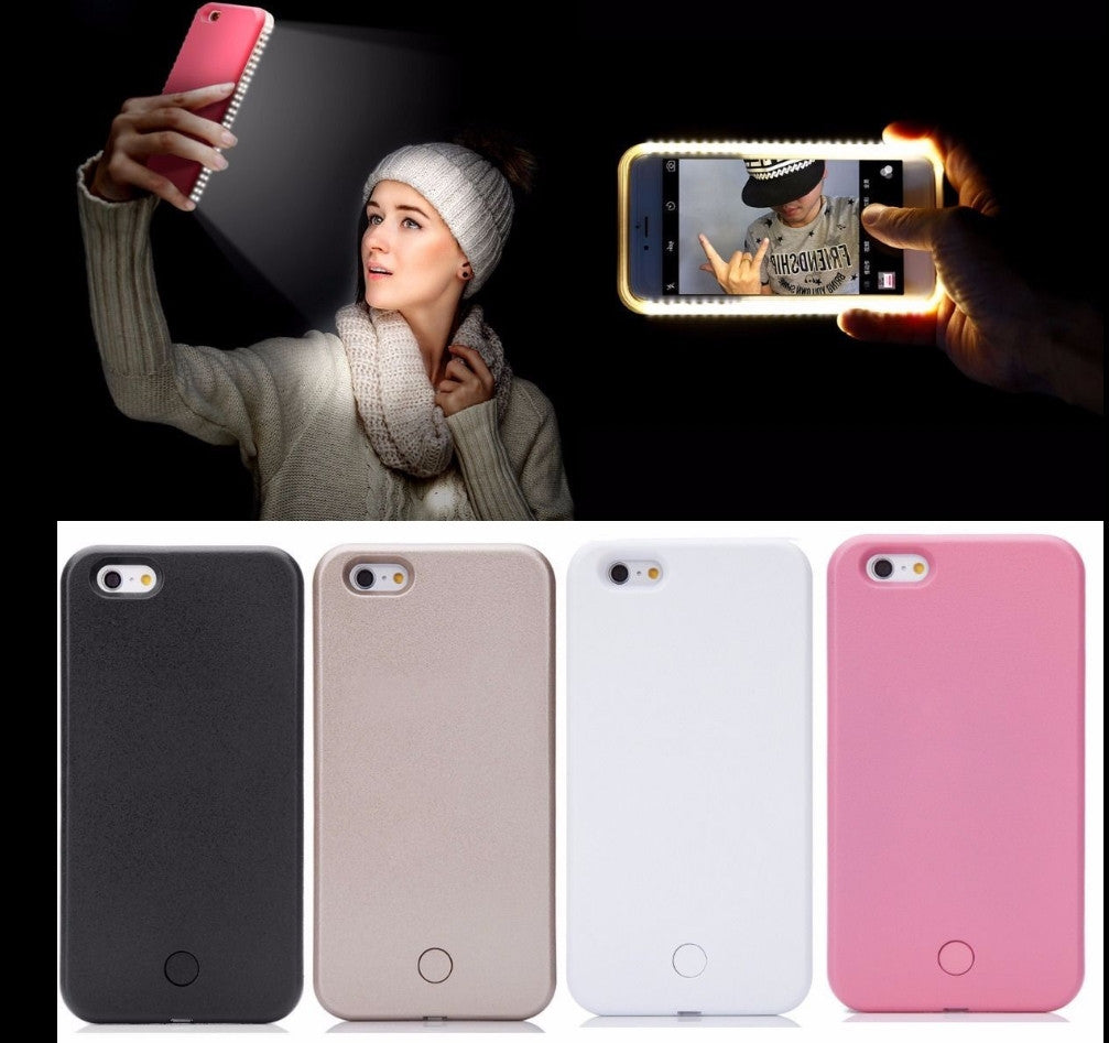 LED Light Up Selfie + Power bank Phone Cover Case Apple iPhone 6 & 6 PLUS - Fashion Effect Store  - 1