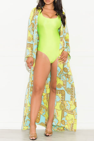 Capri Swimsuit Neon Green