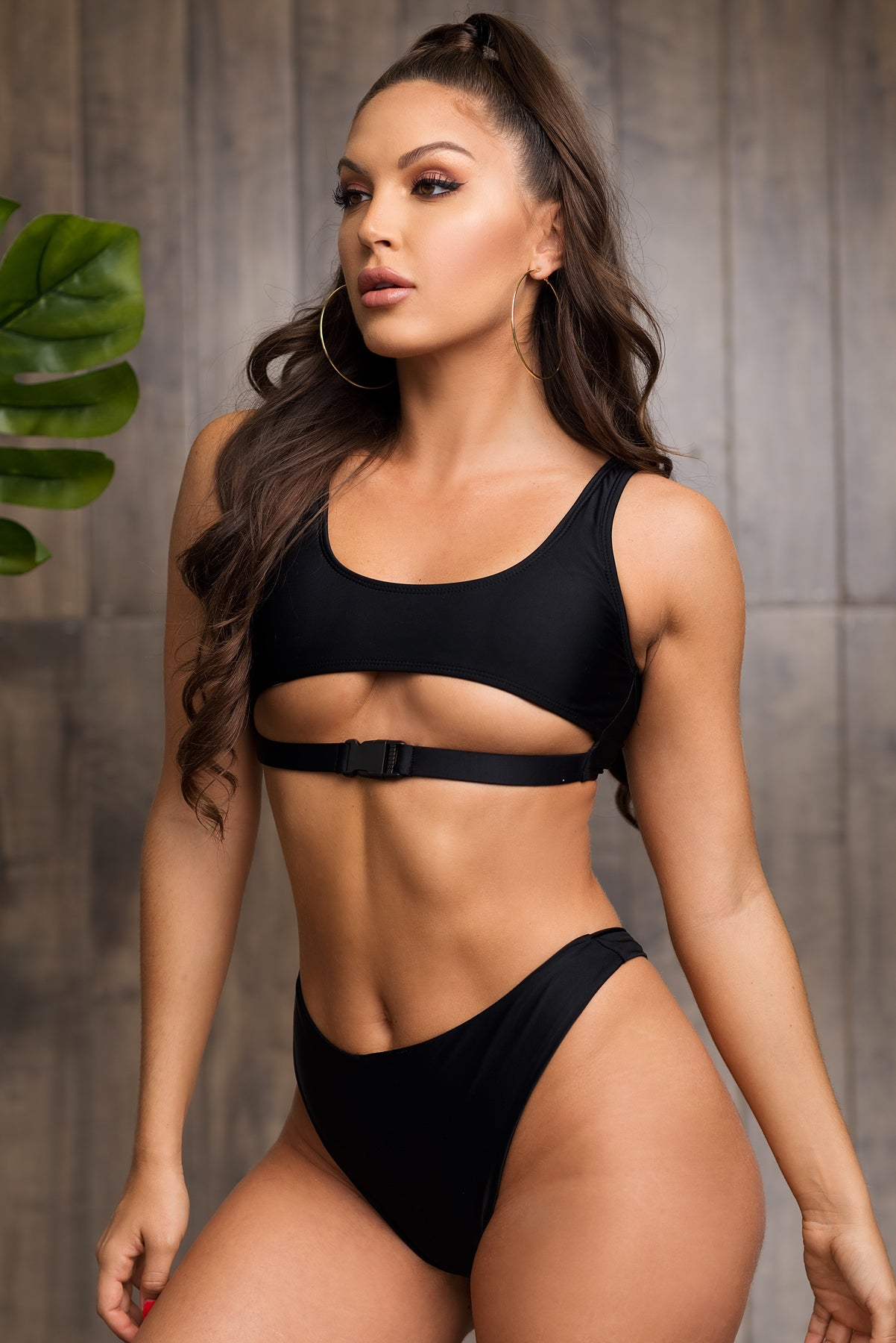 Mermaid Point Two Piece Swimsuit - Black
