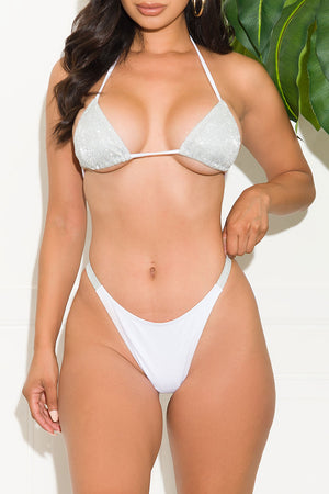 Forbidden Sands Two Piece Swimsuit White