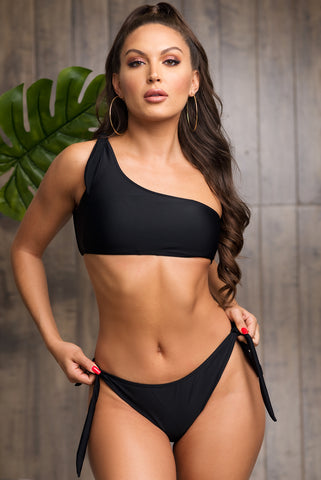 Bamboo Coastline Two Piece Swimsuit - Black