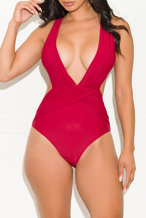 Calm Oceanfront One Piece Swimsuit