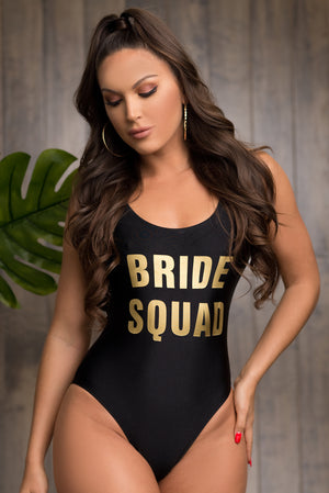 Bride Squad One Piece Swimsuit