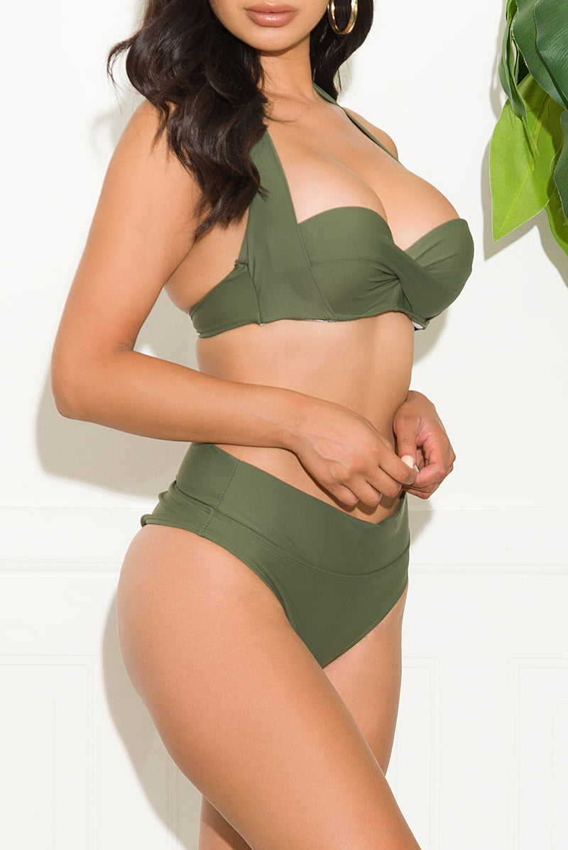 Seagull Bay Two Piece Swimsuit Olive