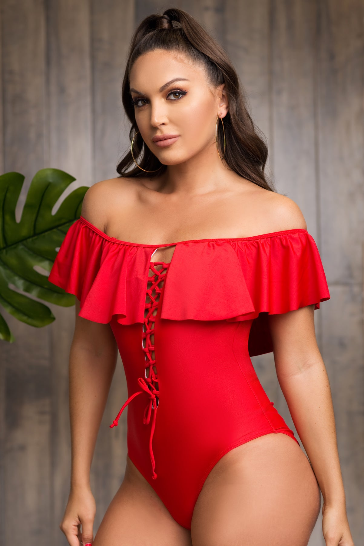 Barbados One Piece Swimsuit - Red